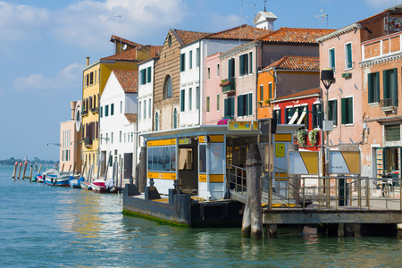 VENICE, ITALY - SEPTEMBER 27, 2017: Vaporetto stop - the pier of