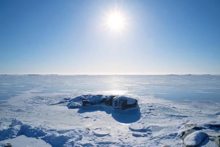 Frosty February day at the Hankoeninsula. Finland Stock Photo