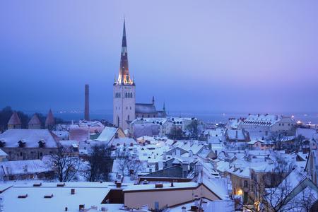 March dull morning in the old Tallinn. Estonia