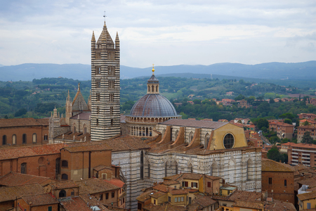 Duomo di Siena in a cloudy September afternoon. Italy