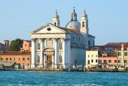 The Gesuathi (Santa Maria del Rosario) Church on a sunny day. Venice, Italy 写真素材