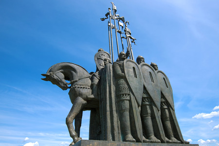 A monument Battle on the ice. Pskov