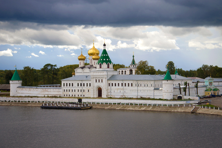 The Holy Trinity Ipatievsky Monastery under a stormy sky on a September afternoon. Kostroma, Russia