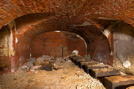 Abandoned casemate for storing artillery shells of the naval fort Reklamní fotografie