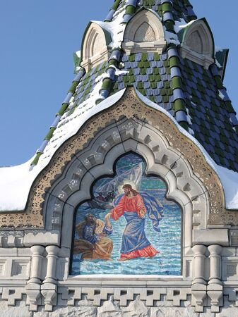 Fragment of the ancient chapel of the Epiphany, Kronstadt. Russia