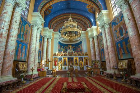 VITEBSK, BELARUS - MAY 02, 2019: Interior of the Orthodox Church of the Resurrection of Christ Stock Photo