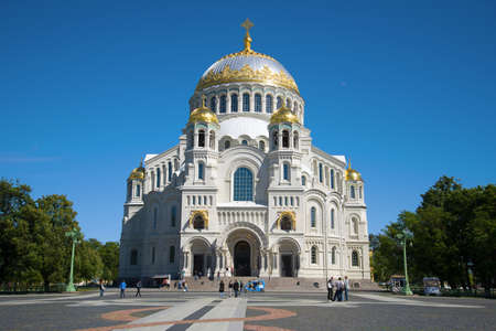 St. Nicholas Naval Cathedral on a sunny June afternoon. Kronstadt, St. Petersburg