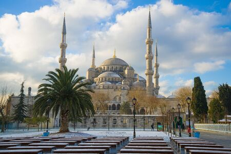 Blue Mosque on a January sunny day. Istanbul, Turkey