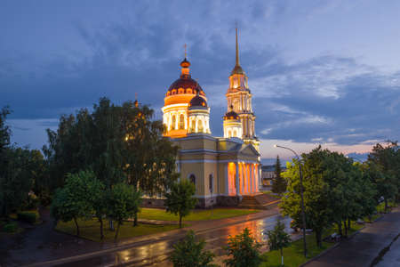 July evening at the Transfiguration Cathedral. Rybinsk, Russia Stok Fotoğraf