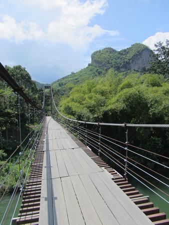 unseen: Rope bridge Heart mountain Unseen Thailand Suratthani