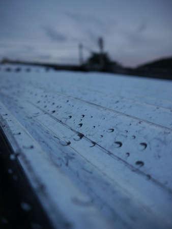 tin: Raindrops on Tin roof