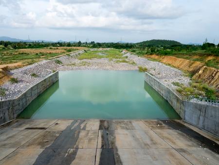 no water: No water dam floodgate