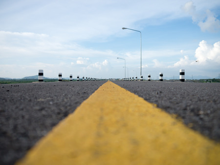 road surface: Road surface and yellow line center