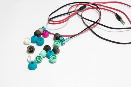 earphone: rubber earphone Stock Photo