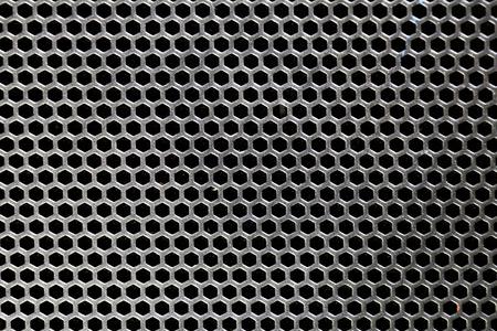 grille: Black iron speaker grid texture same as honeycomb