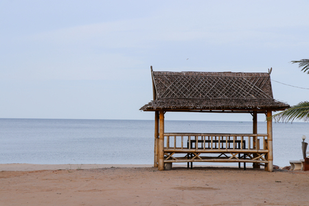 pavilion on the beach for relax zone Stock Photo
