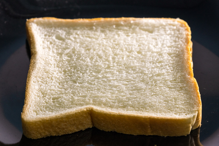one bread slice on the plate
