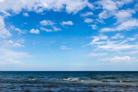 blue sky cloud above sea