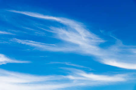 Beautiful clouds floating slowly in the sky Stock Photo