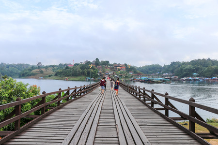 THE LONGEST WOODEN BRIDGE OF THAILAND (MON BRIDGE) Editorial