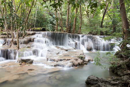 Huay Mae Khamin waterfall in Kanchanaburi province,Thailand