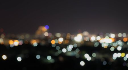 City lights bokeh abstract background