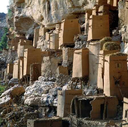 Old graneries Dogon village of Teli, Mali