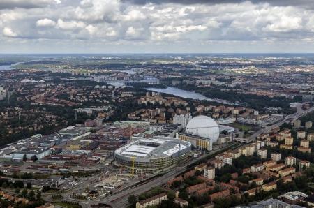 urban wildlife: View over south Stockholm, Sweden