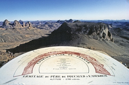 View over Hoggar Mountains from Ermitage du Pere de Foucauld, Sahara Desert, Algeria