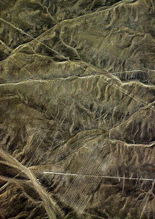 Monkey  The Nazca Lines are a series of geoglyphs located in the Nazca Desert, Peru  Stock Photo