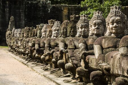 South Gate, Angkor Thom, Cambodia Stock Photo