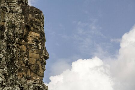 thom: South Gate, Angkor Thom, Cambodia Stock Photo