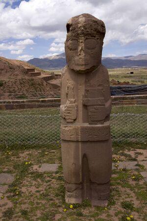 Monolith, Tiwanaku, Bolivia Stock Photo - 17859359