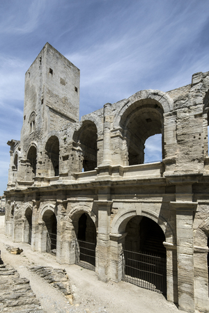amphitheatre: The Arles Amphitheatre  is a Roman amphitheatre in the southern France  Arles Amphitheatre dates from 90 AD