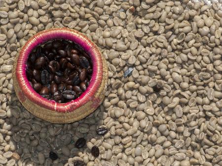 Roasted coffee   coffee not roasted, Ethiopia