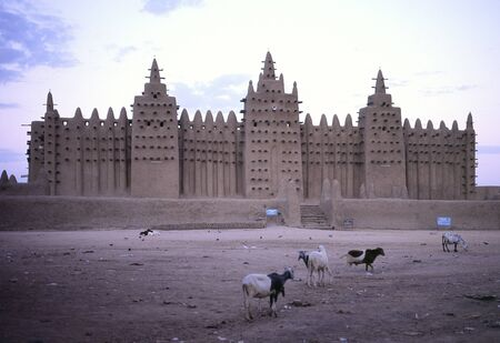 Great Mosque of Djenne is the largest mud brick or building in the world and is considered by many architects to be the greatest achievement of the Sudano-Sahelian architectural style, with definite Islamic influences  Mali Editorial
