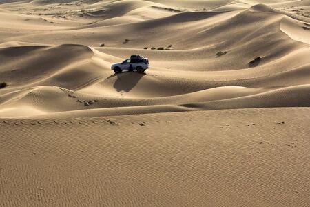 Badain Jaran desert trip  Stock Photo