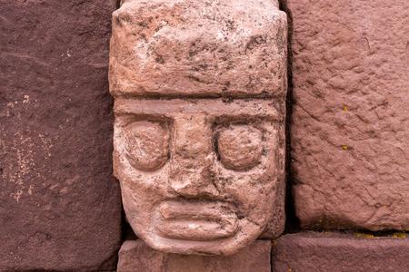 Stone Heads, Kalasaya Compound Wall, Tiwanaku, Bolivia