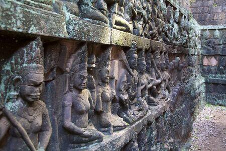 Leper King Terras, Angkor Thom, Cambodia