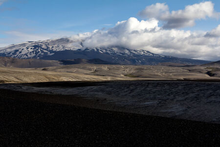hekla: Hekla is a stratovolcano located in the south of Iceland with a height of 1,491 metres  4,892 ft   Stock Photo
