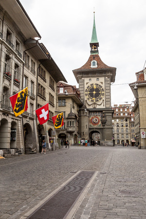 Kramgasse and Zytglogge, Bern city center , Switzerland Editorial