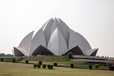 Lotus Temple, Delhi, India. Stock Photo
