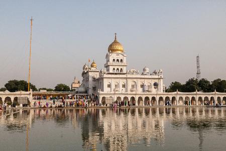 gurdwara: Gurdwara Bangla Sahib, Delhi, India. Stock Photo