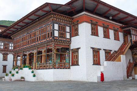 Tashichhoedzong in the city of Thimphu, Bhutan photo