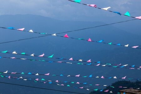 darjeeling: Multi-colored prayer flags, Darjeeling, India