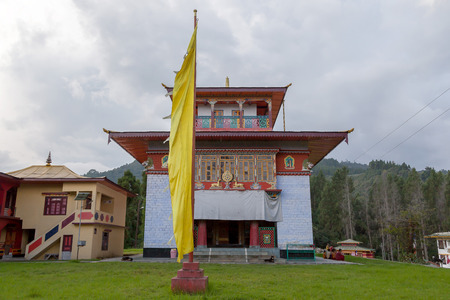 gompa: Old Rumtek gompa - monastery, Sikkim, India.