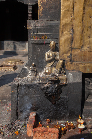 third eye: Buddhist Stupa Swayambhunath Monkey temple in Kathmandu, Nepal
