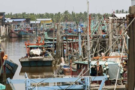 stilt house: Sekinchan fishing village, peninsular Malaysia.