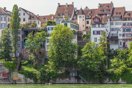 View over beautiful town Basel Switzerland Stock Photo
