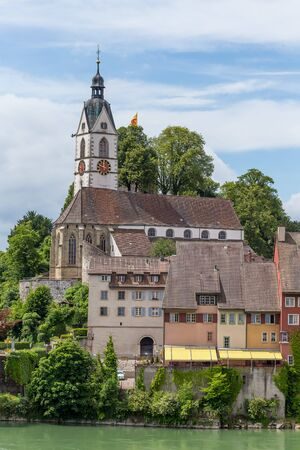 View over beautiful town Laufenburg Switzerland Editorial